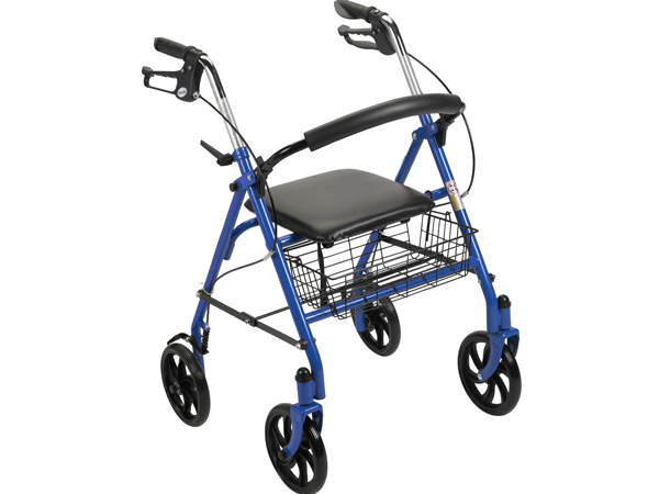 Durable 4 Wheel Rollator, 7.5″ Casters
