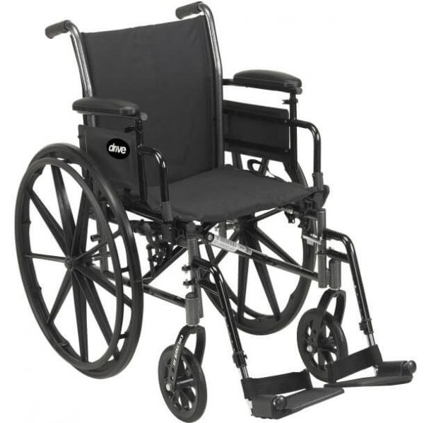Drive Cruiser III Wheelchair 16″, With 8″ Front Casters