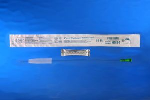Catheters , Male, 16″ Straight Tip, Hydrophilic, Size 14FR, 150/Box HM14