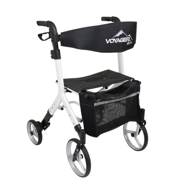 Voyager Adjustable Height Euro-Style Rollator, Ice Palace